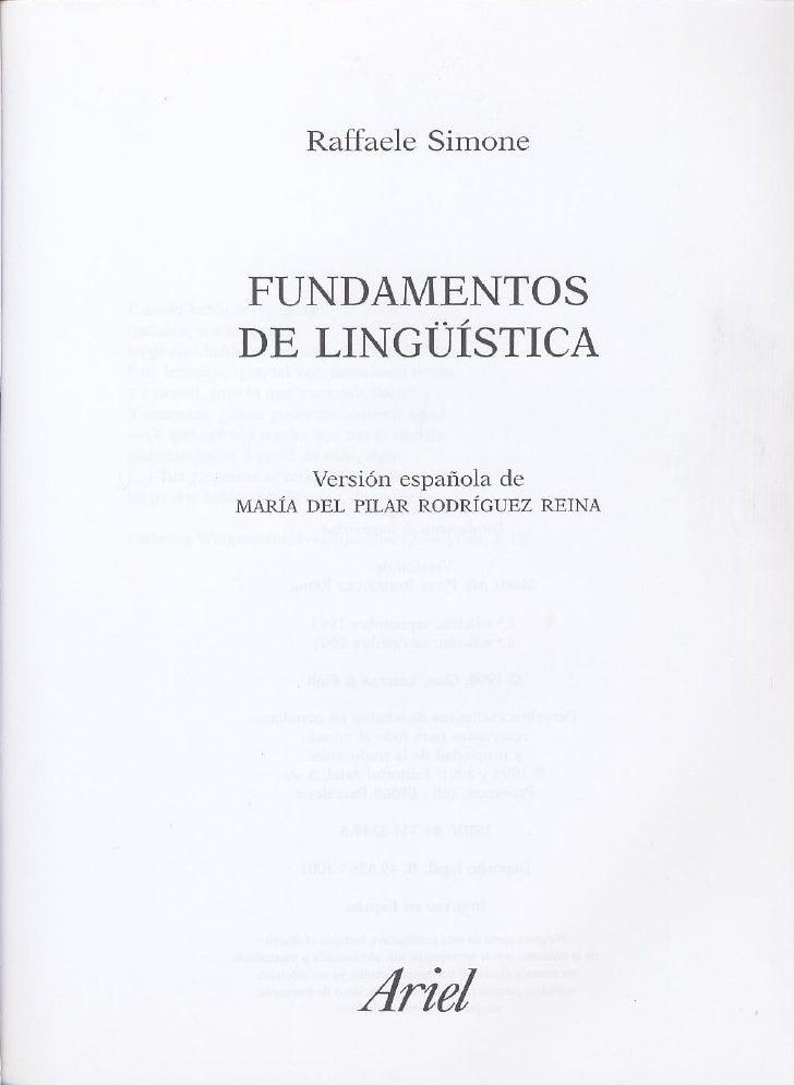 Fundamentos de lingüística parte 1