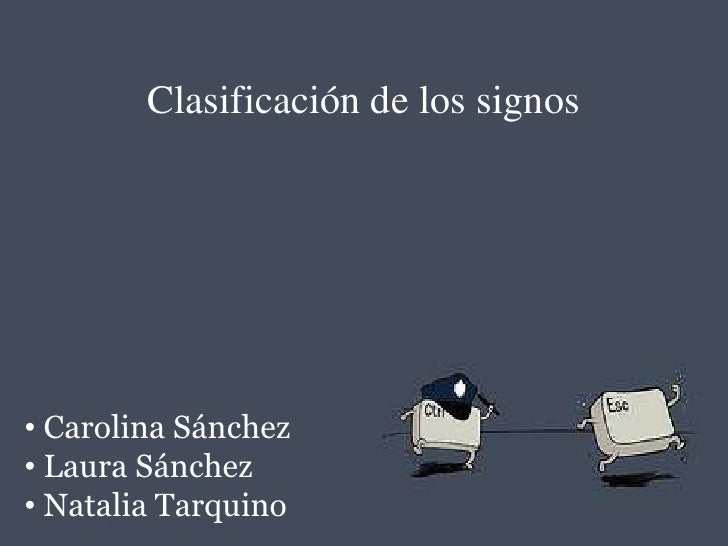 Clasificación de Signos