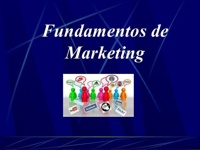 Fundamentos de marketing inicio