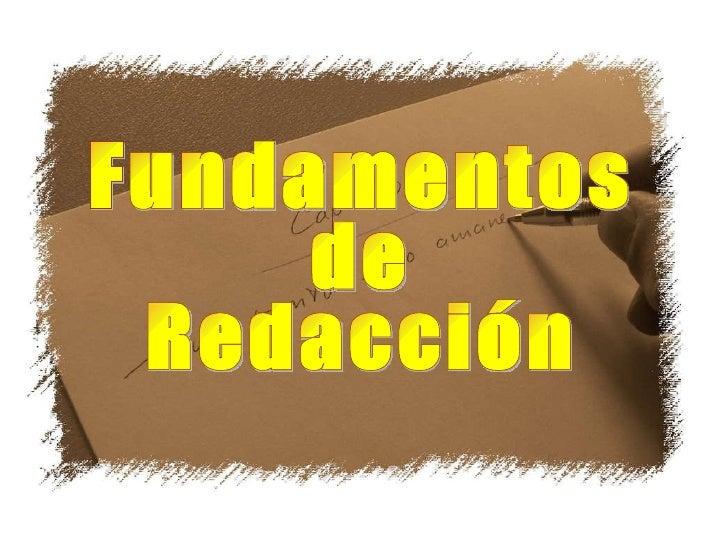 Fundamentos de Redacción