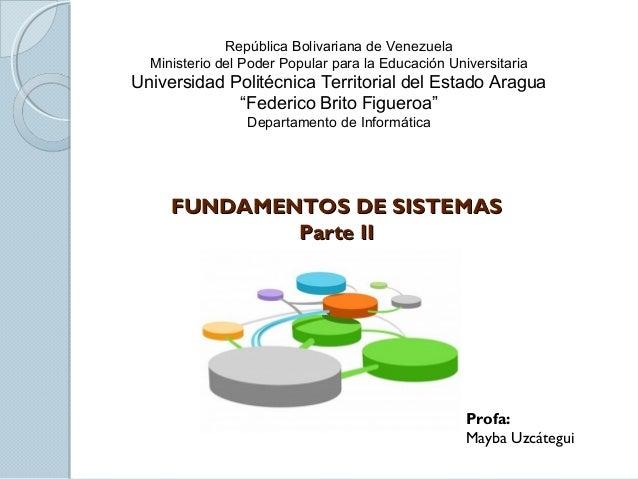 República Bolivariana de VenezuelaMinisterio del Poder Popular para la Educación UniversitariaUniversidad Politécnica Terr...