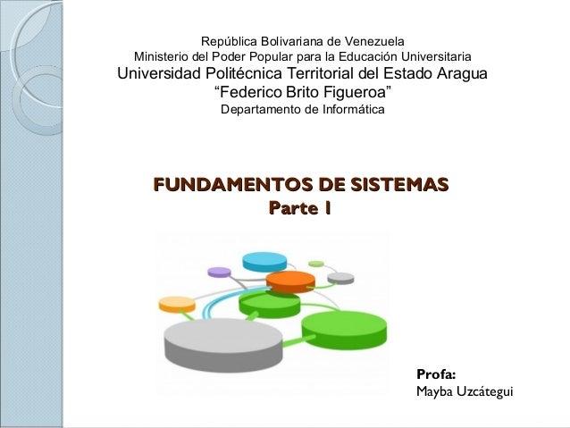 Fundamentos de sistemasparte I