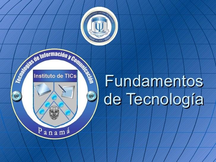 Fundamentos De Tecnologia