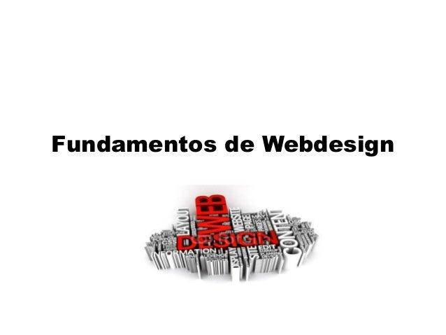 Fundamentos de Webdesign