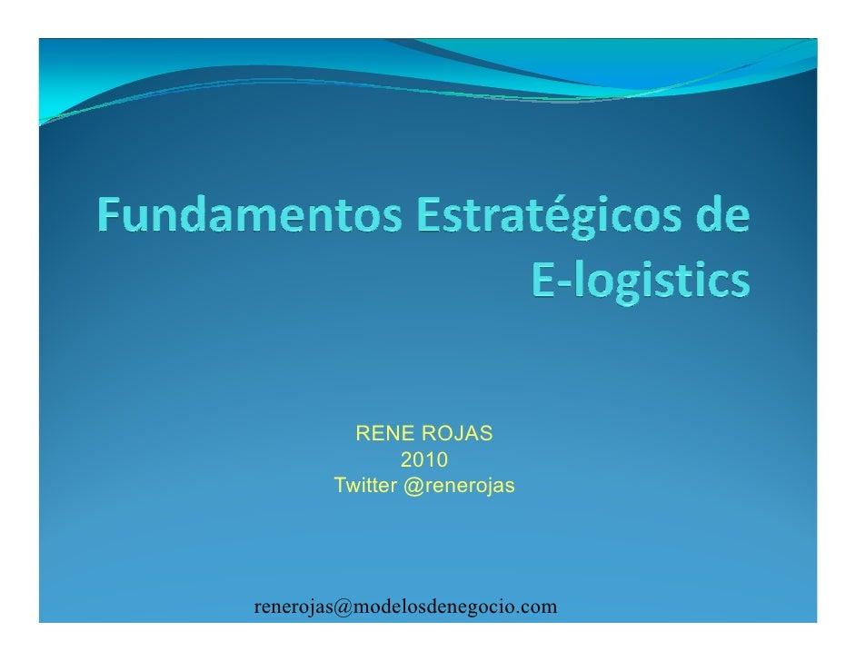 Fundamentos estrategicos de e logistics