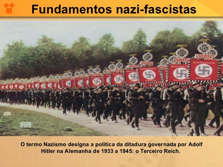 O termo Nazismo designa a política da ditadura governada por Adolf Hitler na Alemanha de 1933 a 1945: o Terceiro Reich.  F...
