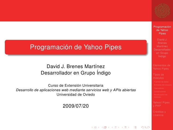 Programación de Yahoo! Pipes