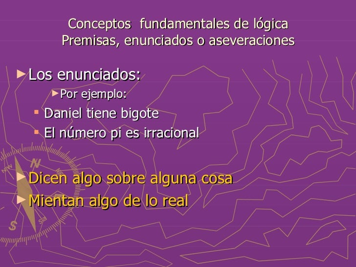 Conceptos fundamentales de lógica