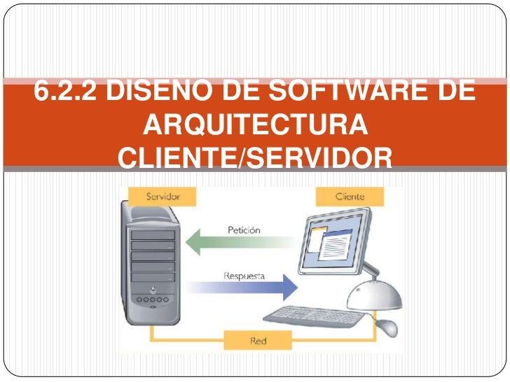 6.2.2 DISEÑO DE SOFTWARE DE        ARQUITECTURA       CLIENTE/SERVIDOR