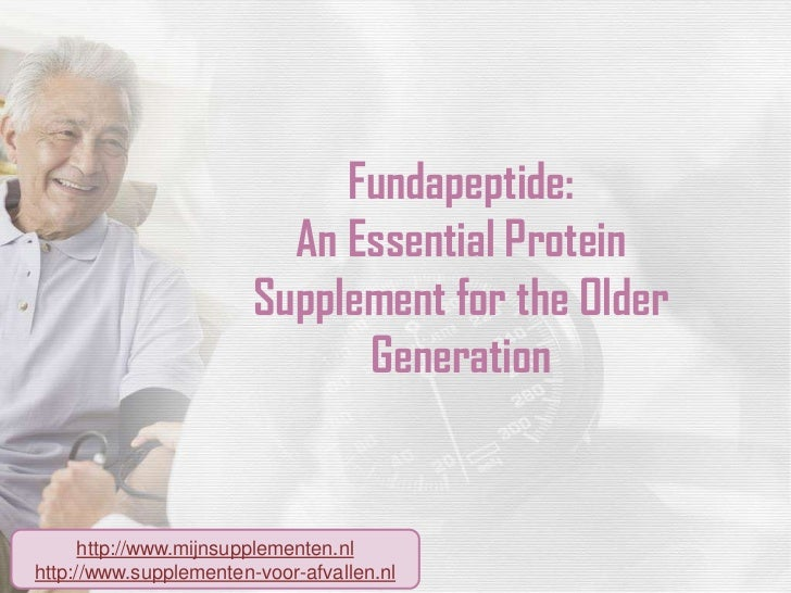 Fundapeptide an essential protein supplement for the older generation 4 14-11