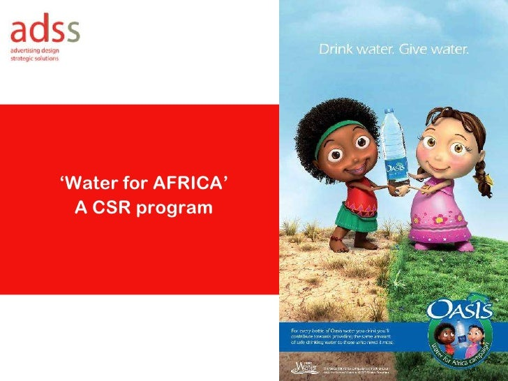 'Water for AFRICA' <br />A CSR program<br />