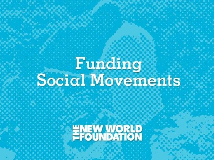 Funding Social Movements