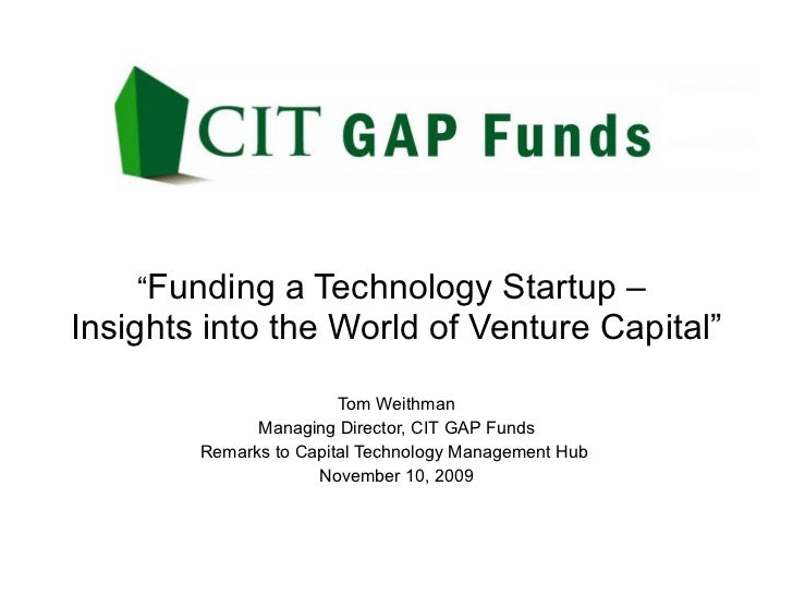 Funding A Technology Start Up   Insights Into The World Of Venture Capital