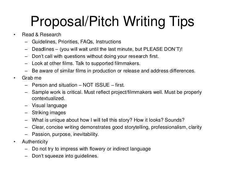 Write a documentary pitch