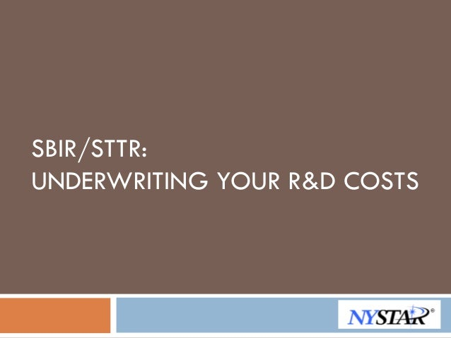 Underwriting Your R&D Costs