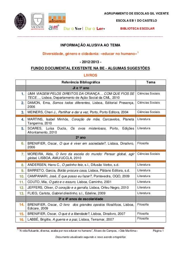 AGRUPAMENTO DE ESCOLAS GIL VICENTE                                                                                ESCOLA E...