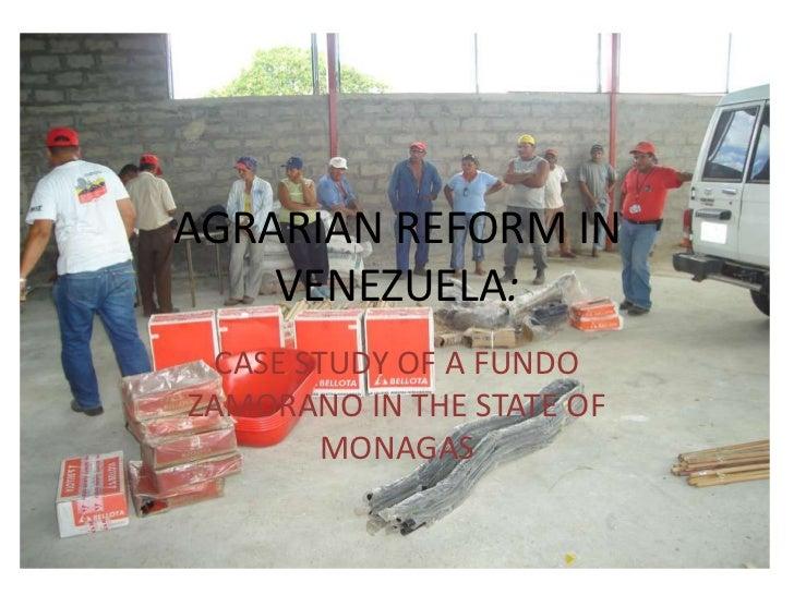 2008 - Fundo Zamorano - Venezuela (Ag. Reform)