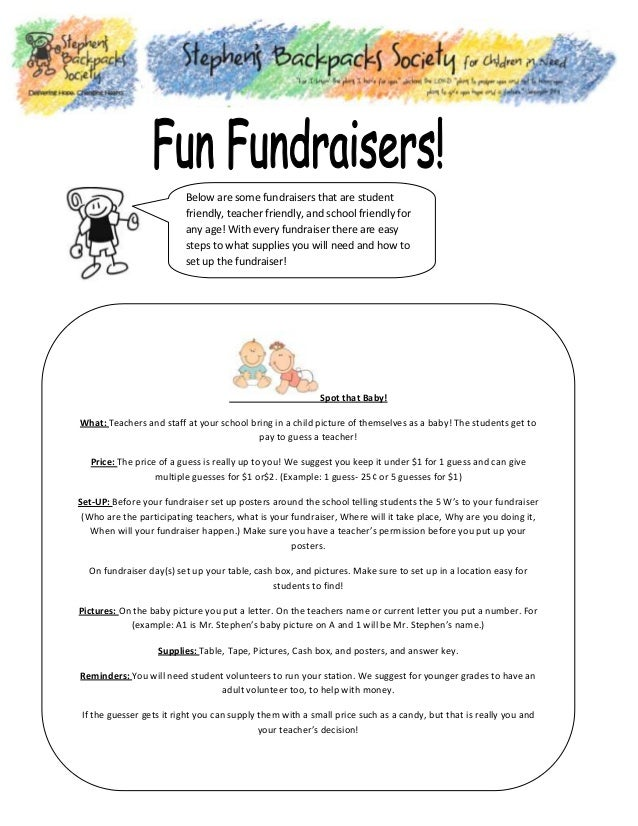 Below are some fundraisers that are student friendly, teacher friendly, and school friendly for any age! With every fundra...
