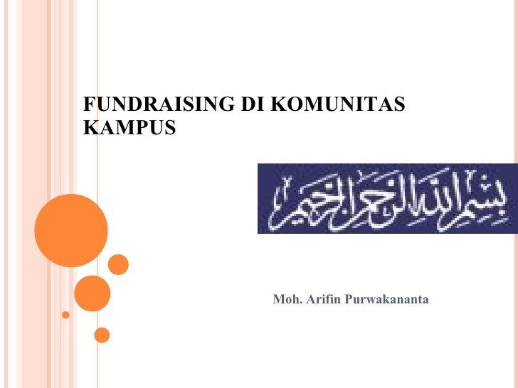 Fundraising Di Komunikas Kampus