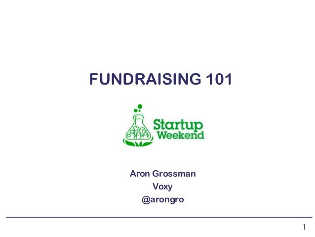 Early-Stage Fundraising 101