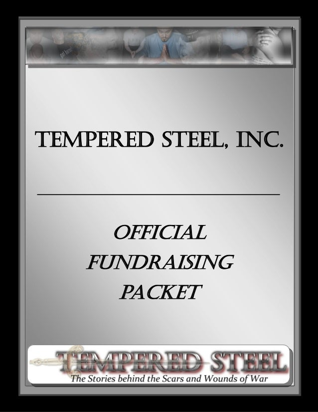 Tempered Steel, Inc. Official Fundraising packet