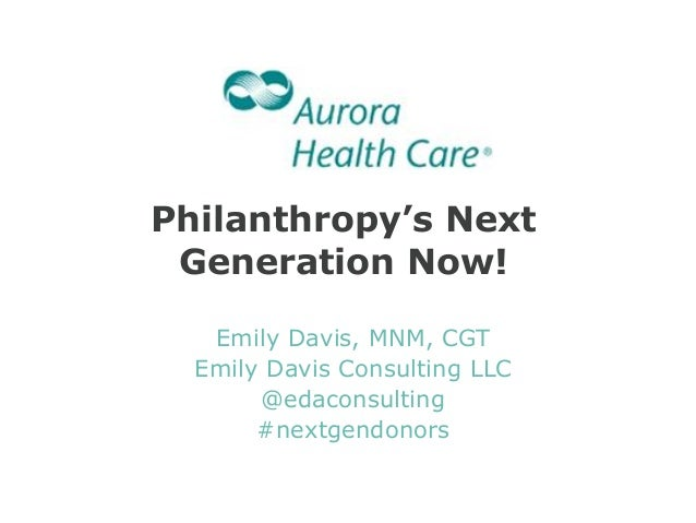 Philanthropy's Next Generation Now