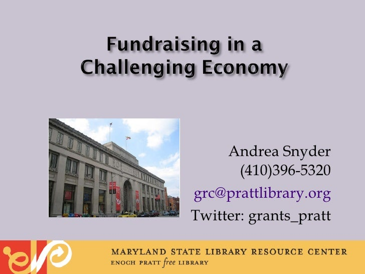 Fundraising in a Challenging Economy