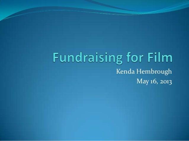 Fundraising for film