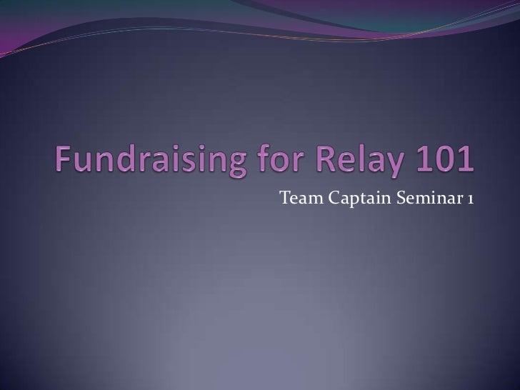 Team Captain Seminar 1