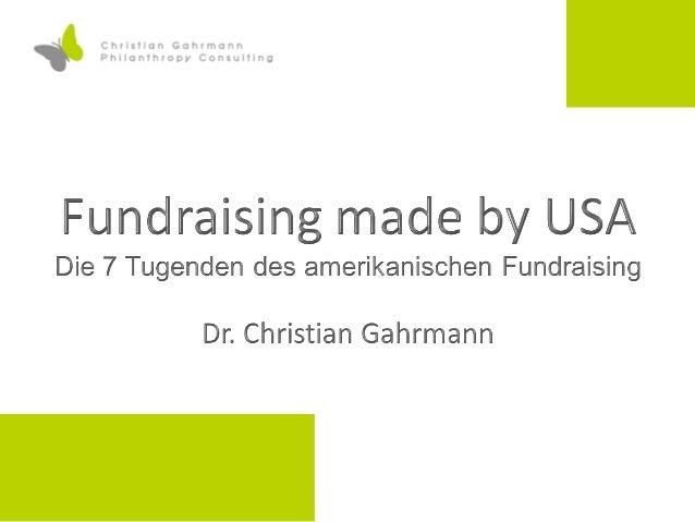 Forschungsreise 2 Association of Fundraising Professionals (Alexandria) United Way of America (Alexandria) Catholic Charit...