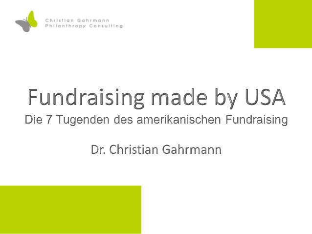 Fundraising made by USA - 7 Tugenden des amerikanischen Fundraisings