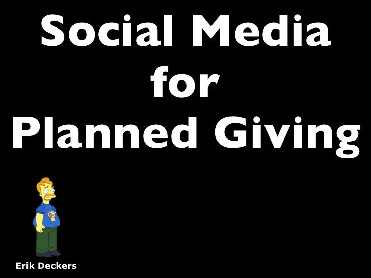 Social Media for Nonprofits and Gift Planning