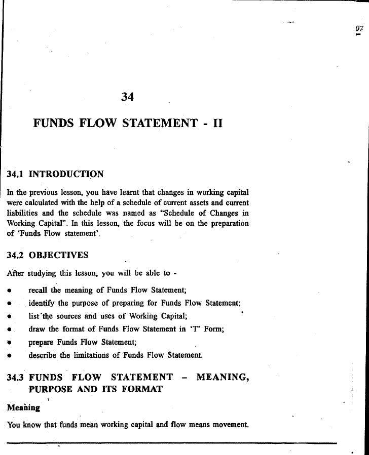 Funds flow statement   ii
