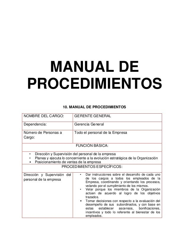 Manual de funciones y procedimientos de un archivo de for Manual de procedimientos de un restaurante