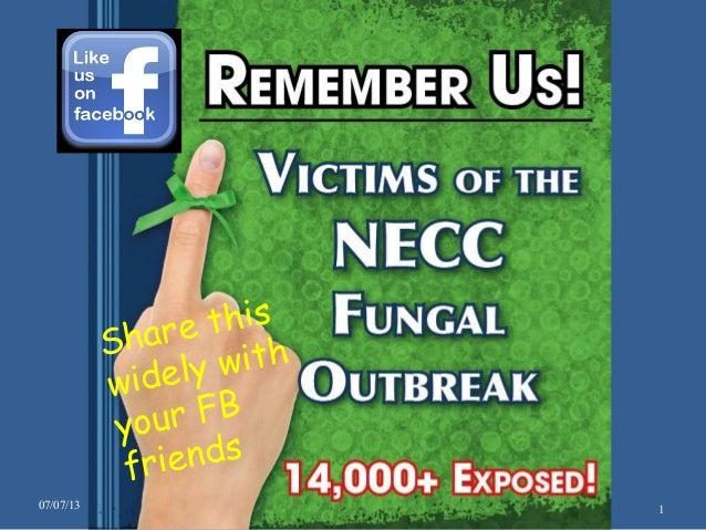 Fungal meningitis outbreak consumer voices speak 070713