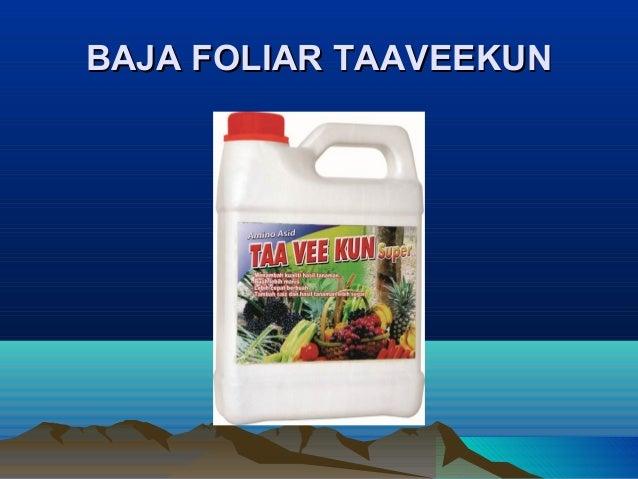 Fungsi nutrient asid amino baja foliar taaveekun