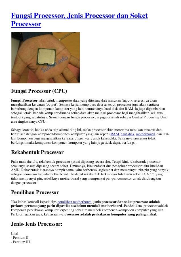 Fungsi processor