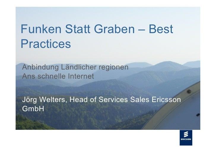 Funken Statt Graben – Best  Slide title                Practices      48 pt                   Anbindung Ländlicher regione...