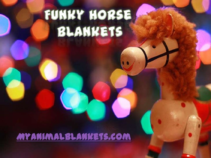 Funky horse blankets