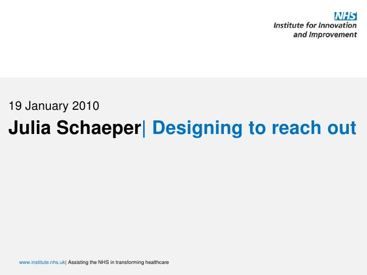 19 January 2010<br />Julia Schaeper| Designing to reach out<br />