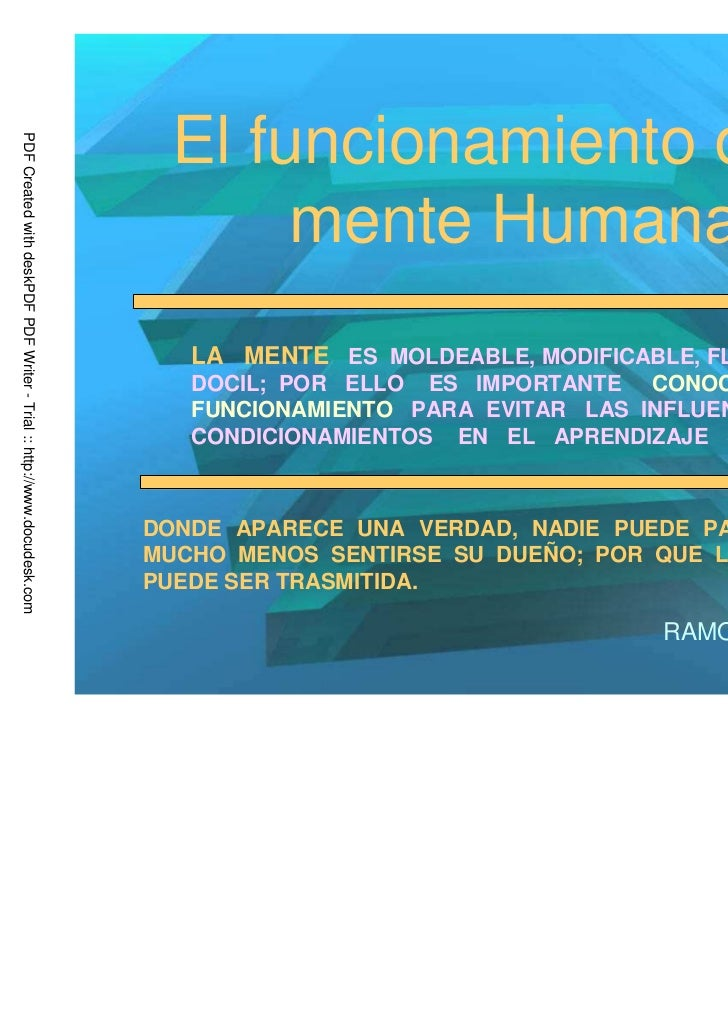 El funcionamiento de laPDF Created with deskPDF PDF Writer - Trial :: http://www.docudesk.com                             ...