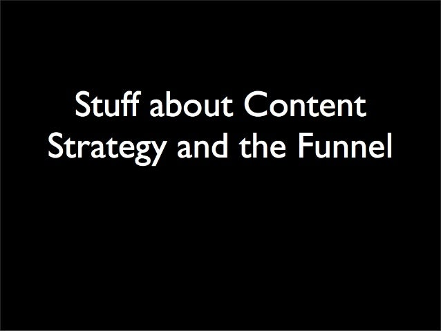 Funnel Cake Content Strategy
