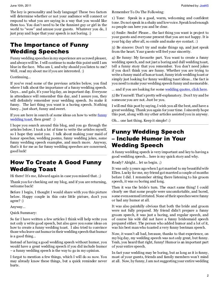 How to write a humorous speech