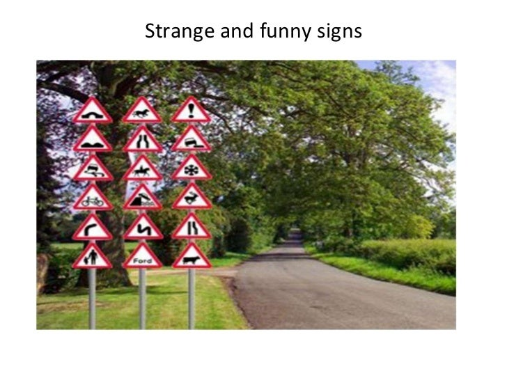 Strange and funny signs