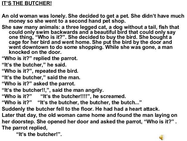 My funny story essay