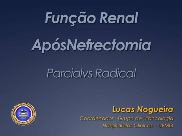Função renal após nefrectomia