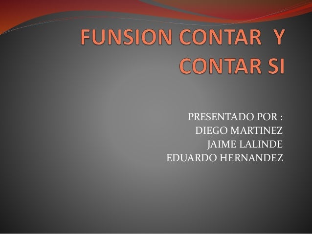 Funsion contar _y_contar_si