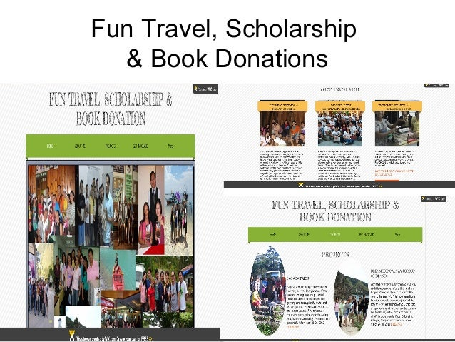 Fun Travel, Scholarship  & Book Donations