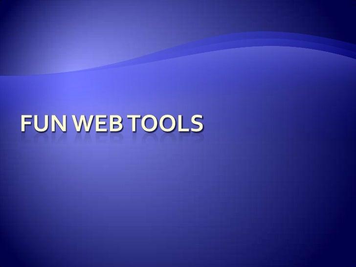 Fun Web Tools<br />