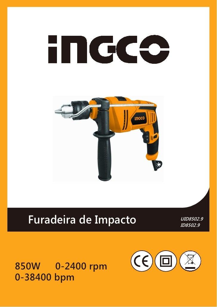 Furadeira de Impacto   UID8502.9                         ID8502.9850W 0-2400 rpm0-38400 bpm
